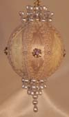 White and Gold Christmas Tree Ornament, large Giftable Victorian Ornaments