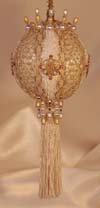 Ivory and gold Christmas Tree Ornaments Victorian Style, Tassels, Crystals Giftable and Heirloom Quality