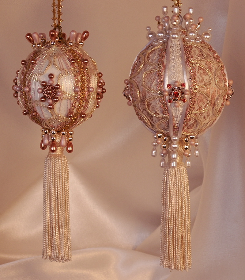 victorian christmas ornaments in two sizes three inch diameter and 35 inch diameter
