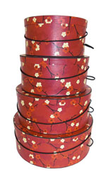 Gallery of Hatboxes Victorian Style Nested Sets of four hat boxes
