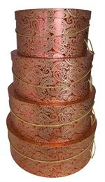 Red Paisley hat boxes