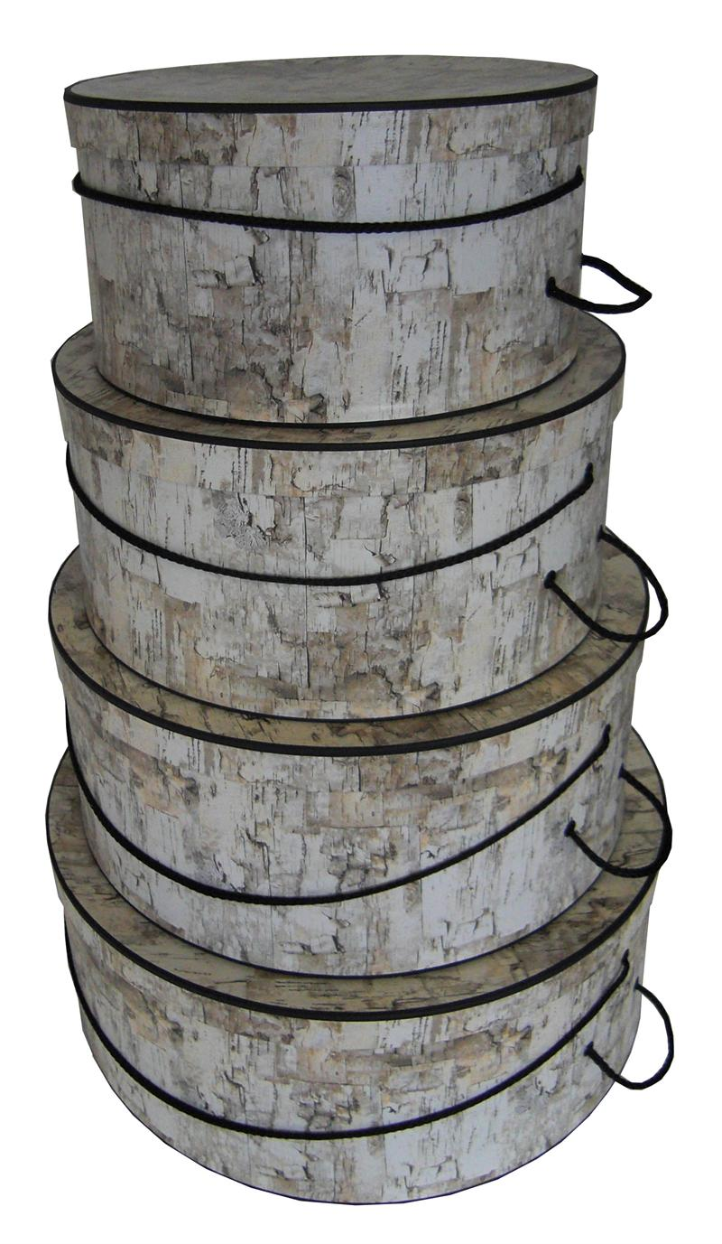 White Birch Design beautiful set of hatboxes