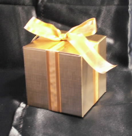 Beautiful Gold Gift Box Tied with a Ribbon