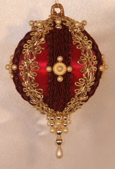 Christmas Tree Ornament Burgundy Gloria