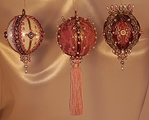 Ornaments on Sale Sets of three at 40% off