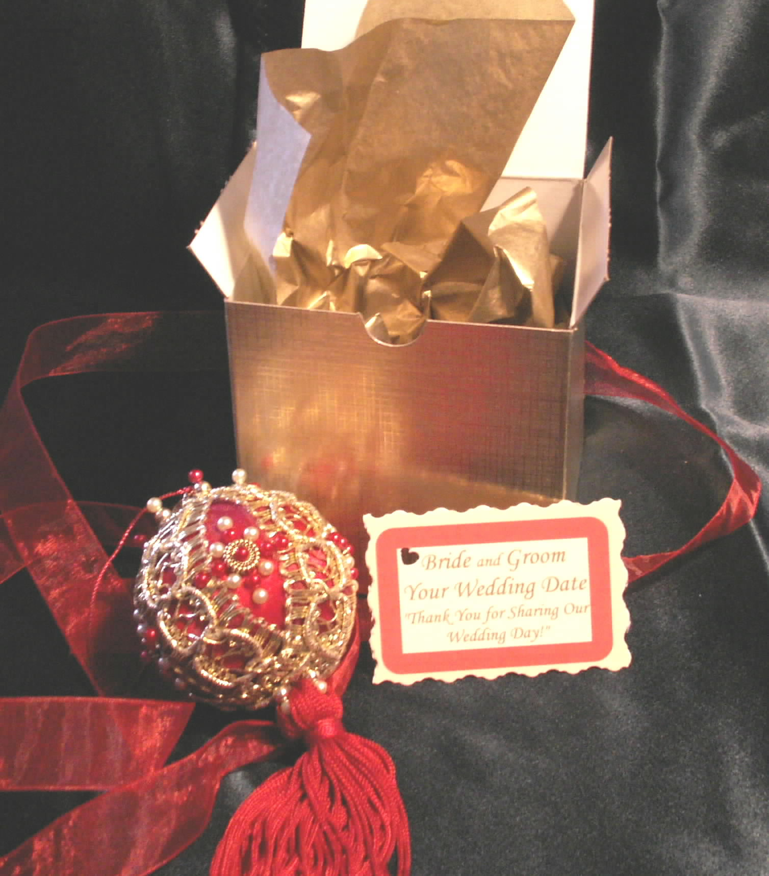 christmas ornaments gift boxed ornament favors christmas wedding favors