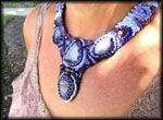 Myra Erickson creates one of a kind beaded jewelry